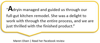 Facebook review from Maren Olsen about Adryin Glynn Designs, Raleigh, NC